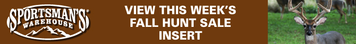 Sportsman's Warehouse Fall Hunting Sale LB