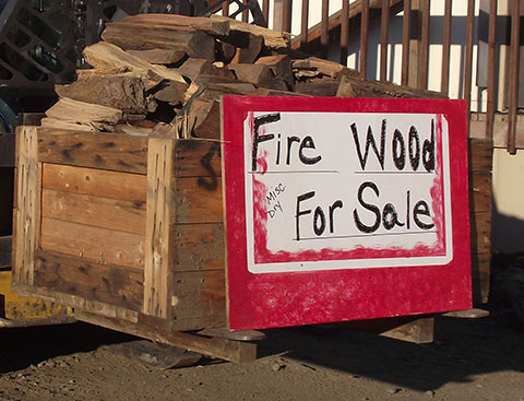 FIREWOOD IN LARGE CRATES