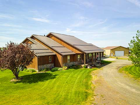 HOME ON 262 ACRES, EDWALL, WA